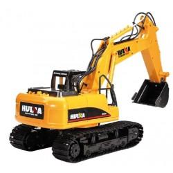 Excavadora EX Hui Na Toys 15 Canais R/C 2.4 1/12 Escala