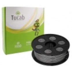 Rolo Filamento impressão 3D em PETG 1.75mm-Cinza c/ Purpurinas - 1Kg