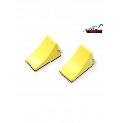 Suporte de roda em metal amarelo(2pcs)