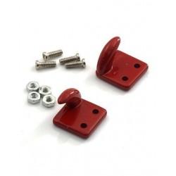 Gancho vermelho com flange de alumínio com parafusos de montagem