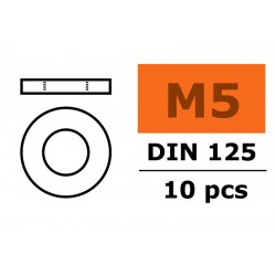 Washer M5 - Galvanized Steel - 10 pcs