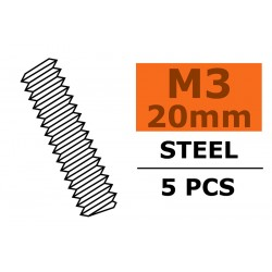 Tie Rod - M3X20 - Steel - 5 pcs