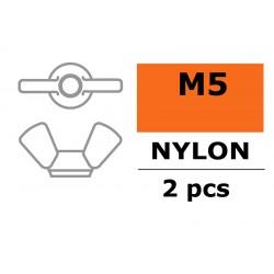 Wing Nut - M5 - Nylon - 2 pcs