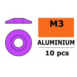 Aluminium Washer - for M3 Button Head Screws - OD 15mm - Purple - 10 pcs