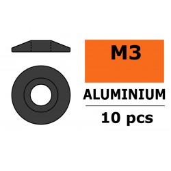 Aluminium Washer - for M3 Button Head Screws - OD 15mm - Gun Metal - 10 pcs