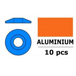 Aluminium Washer - for M3 Button Head Screws - OD 15mm - Blue - 10 pcs