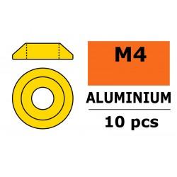 Aluminium Washer - for M4 Button Head Screws - OD 12mm - Gold - 10 pcs