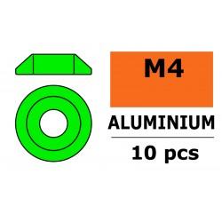 Aluminium Washer - for M4 Button Head Screws - OD 12mm - Green - 10 pcs