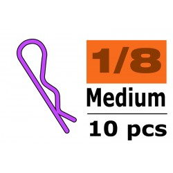 Body Clips - 45° Bent - Medium - Purple - 10 pcs