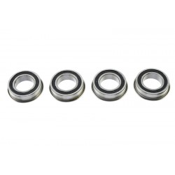 Rolamentos Chrome Steel - ABEC 3 - Rubber Shielded - 8X14X4 - Flanged - MF148-2RS - 4 pcs