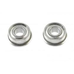 Rolamentos Chrome Steel - ABEC 3 - Metal Shielded - 3X7X3 - Flanged - MF73ZZ - 2 pcs