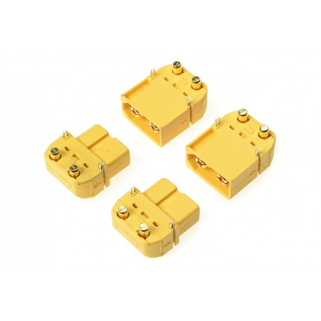 Ficha XT-60PW - Gold Plated - Male + Female - 2 pairs
