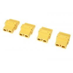 Ficha XT-60PT - Gold Plated - Male - 4 pcs
