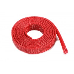 Wire Protection Sleeve - Braided - 8mm - Red - 1m
