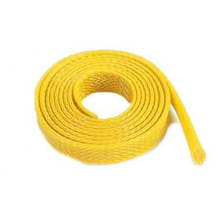 Wire Protection Sleeve - Braided - 8mm - Yellow - 1m