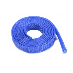 Wire Protection Sleeve - Braided - 10mm - Blue - 1m