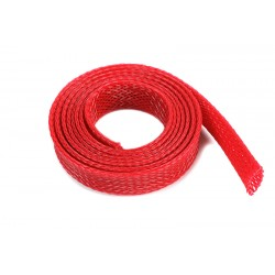 Wire Protection Sleeve - Braided - 10mm - Red - 1m