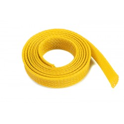 Wire Protection Sleeve - Braided - 10mm - Yellow - 1m