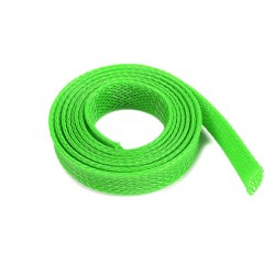 Wire Protection Sleeve - Braided - 10mm - Neon Green - 1m