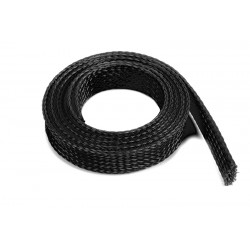 Wire Protection Sleeve - Braided - 14mm - Black - 1m