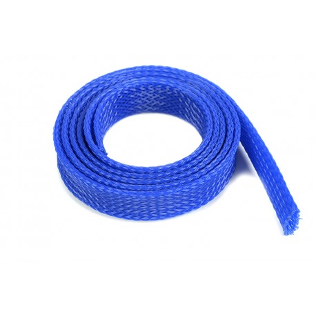Wire Protection Sleeve - Braided - 14mm - Blue - 1m