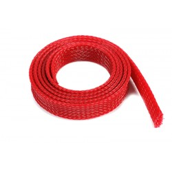 Wire Protection Sleeve - Braided - 14mm - Red - 1m