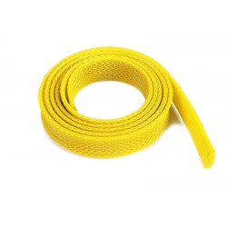 Wire Protection Sleeve - Braided - 14mm - Yellow - 1m