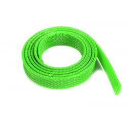 Wire Protection Sleeve - Braided - 14mm - Neon Green - 1m