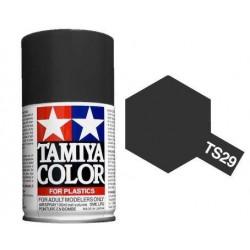 Tinta Spray p/Plástico, Preto Puro TS-29 100ml Tamiya