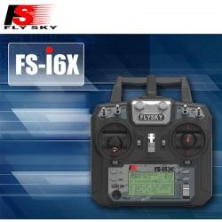 Rádio Fly Sky FS-i6X c/ Receptor FS-iA6B i-Bus 6 Canais 2.4Ghz