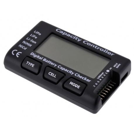 Medidor digital de Voltagem p/Baterias Lipo, Life c/ Balanceador