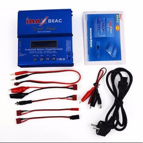 Carregador Imax B6AC 80W c/ Fonte Alimentação e Balanceador programável