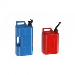 Depósito de Gasolina e Deposito de Agua 1/10 para Crawlers RC (plástico)