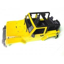 Carroçaria 1/10 crawler Jeep Wrangler Sport Amarela(38,5x20,5cm)