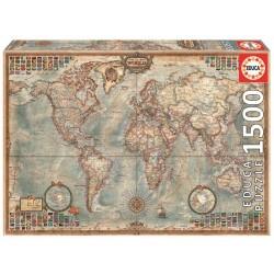 Puzzle 1500 O MUNDO, MAPA POLÍTICO