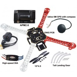 Combo Drone F450 QUADCOPTER ARTF C/APM 2.6 Auto-Pilot,GPS 6