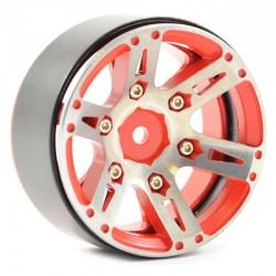 """Jantes Beadlock Aluminio 1.9"""" Vermelho(4)"""