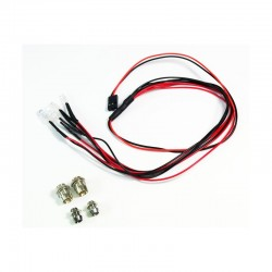LED set white/red with aluminum holder