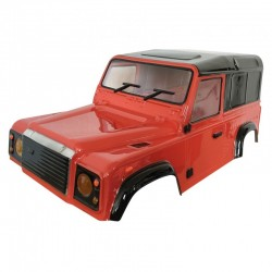 Carroçaria Crawler Land Rover Defender D90 Transparente 1/10(Eixos-280mm)