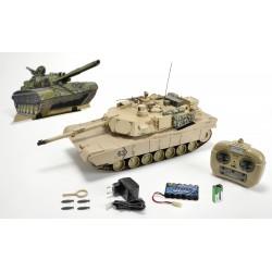 Tanque de Guerra M1A2 Abrams HOBBY ENGINE 1/16 27Mhz RTR1,20mts c/ comando