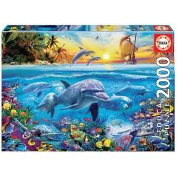 Puzzle 2000 FAMÍLIA DE GOLFINHOS