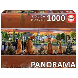 """Puzzle 1000 CÃES NO CAIS """"PANORAMA"""""""