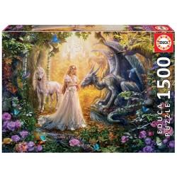 Puzzle 1500 DRAGÃO, PRINCESA E UNICÓRNIO