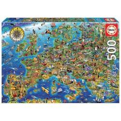 Puzzle 500 MAPA DA EUROPA