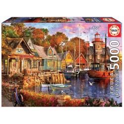 Puzzle 5000 ATARDECER NO PORTO