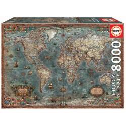 Puzzle 8000 MAPA HISTÓRICO DO MUNDO
