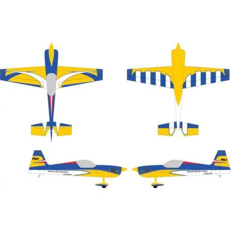 "Avião LASER – 103"" (2.61M) ARF KIT COLOR 05 (YELLOW/BLACK)"