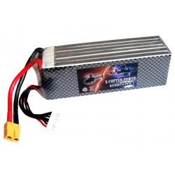 Bateria Lipo 6S 22.2v 60C XT60 400gr(140mmx43mmx40 mm)