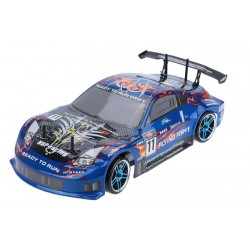 Carro Drifting 1:10 HSP Flying Fish c/ bateria LIPO 2.4G Porsche Azul