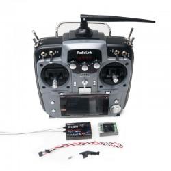 Rádio RadioLink AT10II 12Canais +R12DS+PRM-01 Sensor de Voltagem